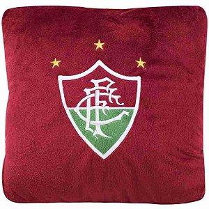 Almofada Quadrada Bordô (Fibra) - Fluminense