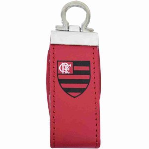 Pendrive Couro Sintético 7.6GB - Flamengo