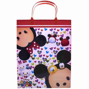 Sacola De Presentes Vermelho 32.5X26cm Mickey e Minnie Mouse Tsum tsum - Disney