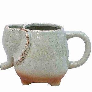 Caneca Porcelana Elefante 450ml
