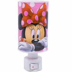 Luminária Abajur Rosa Minnie - Disney