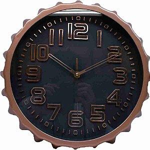 Relógio Parede Tampa Garrafa 32x32cm