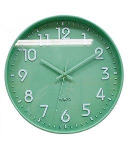 Relógio Parede Verde 25x25cm