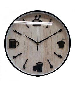 Relógio Parede Refeição 30x30cm