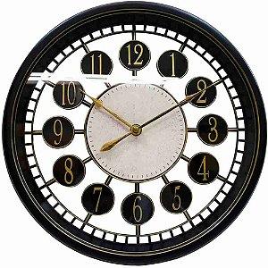 Relógio Parede Preto 30x30cm