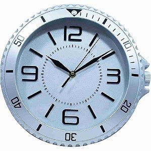 Relógio Parede Cinza 29x30cm