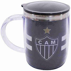 Caneca Térmica Arredondada Com Tampa 450ml - Atlético Mineiro