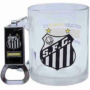 Caneca De Vidro Com Abridor De Garrafas 350ml - Santos