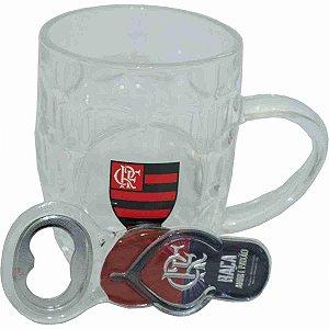 Jg Abridor De Garrafas Com Caneca De Vidro 280ml - Flamengo