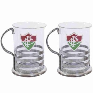 Jg Com 2 Canecas De Vidro 200ml - Fluminense