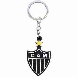 Chaveiro De Borracha Com Brasão De Time - Atlético Mineiro