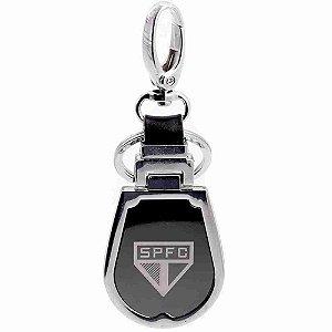 Chaveiro de Couro e Metal - SPFC