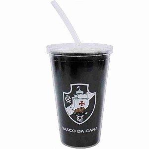 Copo De Plástico Canudo 500ml - Vasco