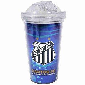 Copo De Plástico Com Canudo 450ml - Santos