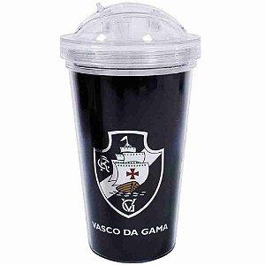 Copo De Plástico Com Canudo 450ml - Vasco