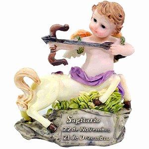 Anjinho Signo Sagitário 10cm - Enfeite Resina