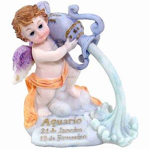 Anjinho Signo Aquário 10cm - Enfeite Resina