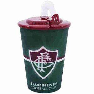 Copo 3D Com Canudo 450ml - Fluminense