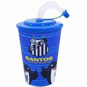 Copo 3D Com Canudo 450ml - Santos