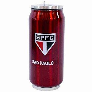 Copo De Inox Com Canudo 350ml - SPFC