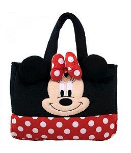 Bolsa Pelúcia Rosto Minnie 33x42x6cm - Disney
