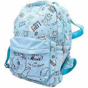 Mochila Azul Marie 33x13x21cm - Disney