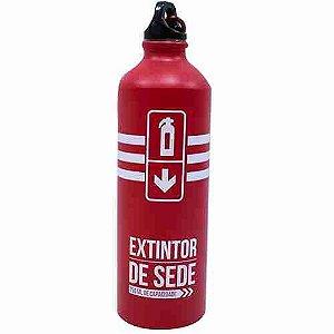 Garrafa Vermelha Alumínio Extintor 750ml - Projeto Kiwi