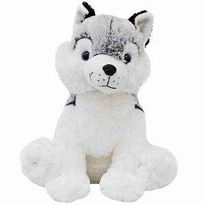 Cachorro Husky Sentado 33cm - Pelúcia