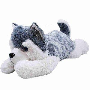 Cachorro Husky Desitado 58cm - Pelúcia