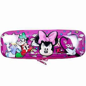 Estojo Metal Roxo Minnie Bravinha 6x3.5x19cm - Disney