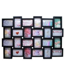 Multi Porta Retrato Preto 24 fotos 10x15cm