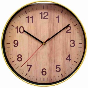 Relógio Parede Madeira 30x30cm