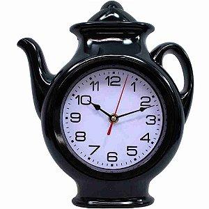 Relógio Parede Preto Bule 29x24.5cm