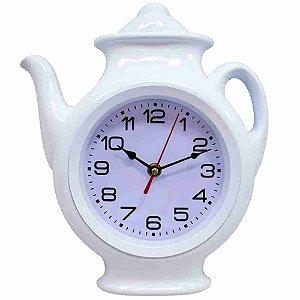 Relógio Parede Branco Bule 29x24.5cm