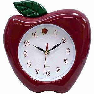Relógio Parede Maçã 27x23cm