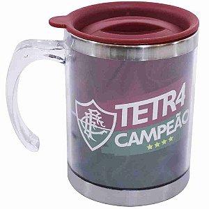 Caneca Térmica Com Tampa 450ml - Fluminense
