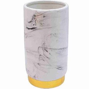 Vaso Porcelana Branca 18x10x10cm
