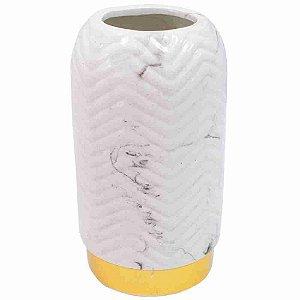 Vaso Porcelana Branca 22.5x12x12cm