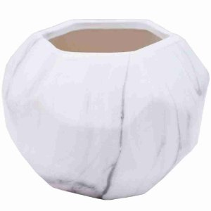 Vaso Porcelana Branca 9.5x13x13cm