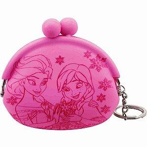 Chaveiro Porta Moeda Anna & Elsa (Rosa Choque) Frozen - Disney