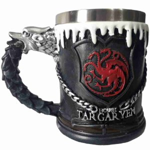 Caneca Game Of Thrones Jon Snow Aegon Targaryen 450ml