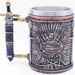 Caneca Game Of Thrones Coleção Trono De Ferro Resina