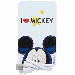 Carregador Portátil Branco I Love Mickey 2200Mah - Disney