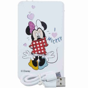 Carregador Portátil Branco Minnie Vestido 2200Mah - Disney