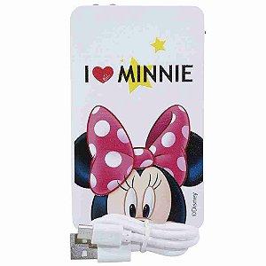 Carregador Portátil Branco I Love Minnie 2200Mah - Disney