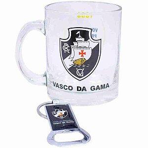 Caneca De Vidro Com Abridor De Garrafas 350ml - Vasco