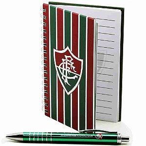 Caneta Roller Pen De Metal Com Caderno - Fluminense