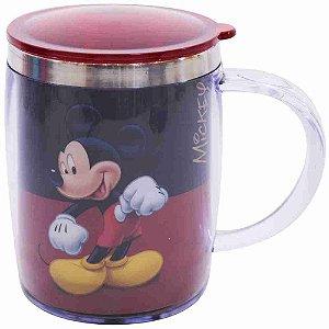 Caneca Termica Preta E Vermelha Mickey 450ml - Disney