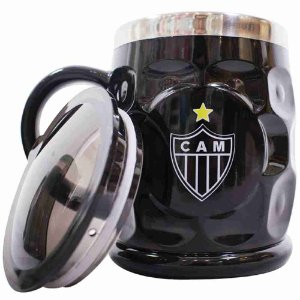 Caneca Térmica Com Tampa 500ml - Atlético Mineiro