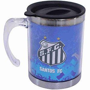 Caneca Térmica Com Tampa 450ml do Santos FC